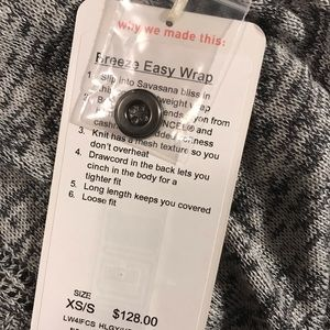 lululemon athletica Sweaters - NWT Lululemon Breeze Easy Wrap. XS/S.